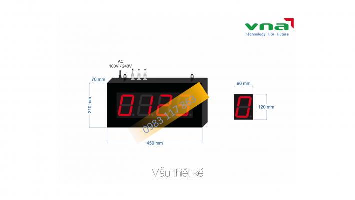 Mẫu thiết kế bộ đếm sản phẩm màn hình lớn loại 4 số